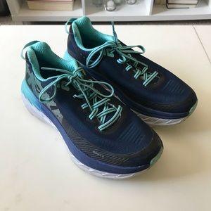 Women's Hoka one bondi 5 running shoes size 7.5